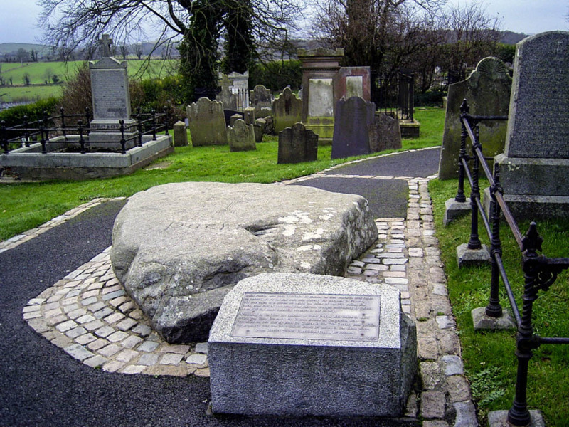 Saint Patrick's grave. I've seen nicer tombstones to tell you the truth. Sort of a rustic look.