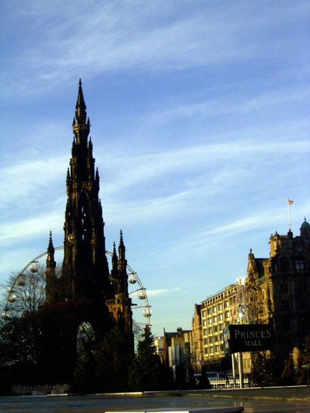 Princess Street and the Monument.