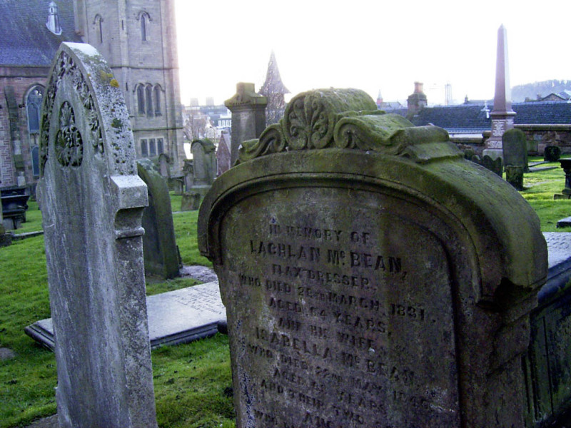 An old cemetery at the local Catholic church. There are a large number of churches in Inverness catering to every denomination.