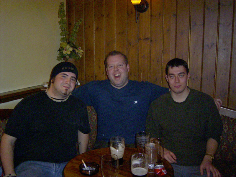 Myself, fellow Canuck Scott and Simon.