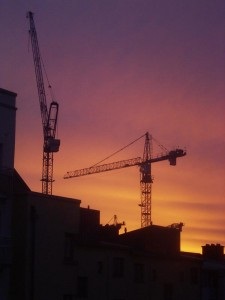 A common sight of the Dublin skyline.