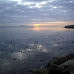 Sunset on the coast in Galway.
