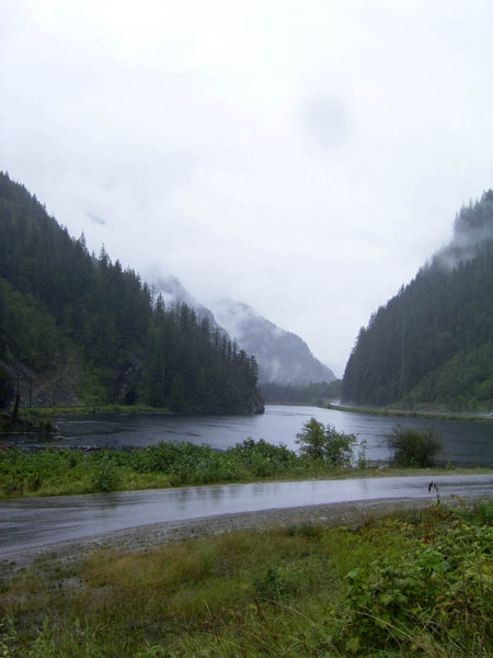 Coming through Revelstoke we found rain again, but it didn't stop me from pulling the car over and snapping a couple photos
