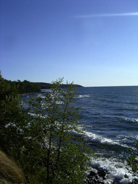 The cold waters of Lake Superior