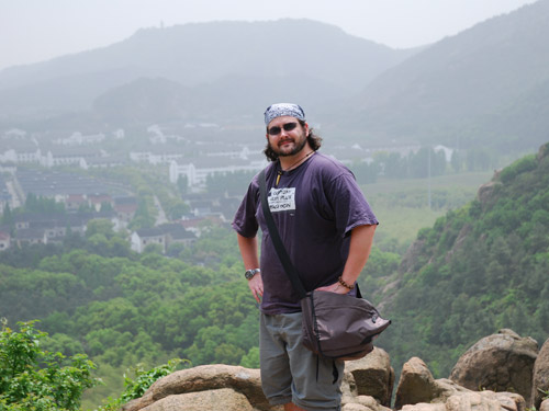 Me, about halfway up Tianping Shan