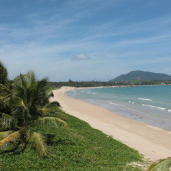The beach at Yunlong Bay, Wenchang, Hainan
