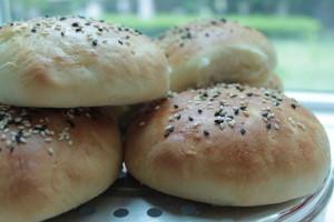 Home-made hamburger buns